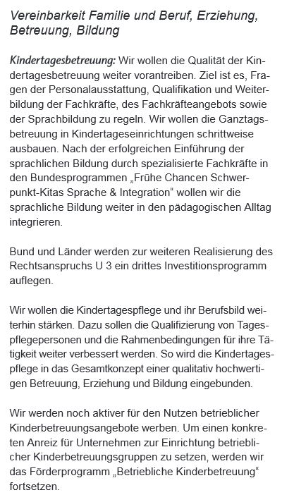 201505 Koalitionsvertrag s68 Kindertagesbetreuung