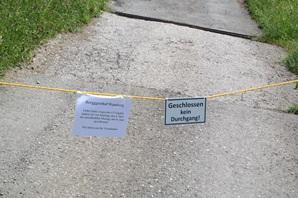 Berggasthaus Wamberg geschlossen